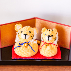 トラ 手編み ぬいぐるみ 【 寅年 の イメージ 】