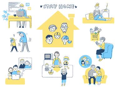 STAY HOME イメージ セット