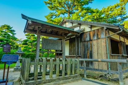歴史的に有名な松陰神社の風景(山口県萩市)