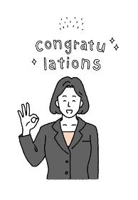 シンプルなタッチ 文字と若いビジネスウーマンのイラストレーション