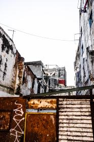 キューバ・ハバナの旧市街の建物(HDR)