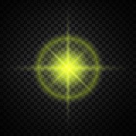 yellow glowing light glitter