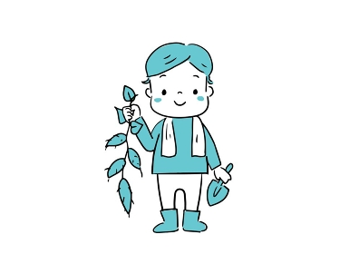 芋掘りで大収穫 芋掘りをする子供たち