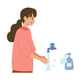 【新しい生活様式】手洗いの推奨イラスト