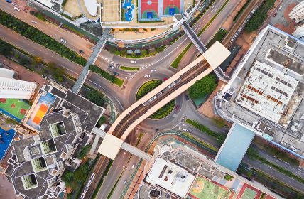 Tin Shui Wai, Hong Kong 08 September 2018:- Top down view of Hong Kong city