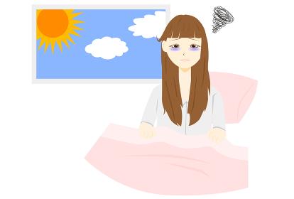 不眠症 女性 朝