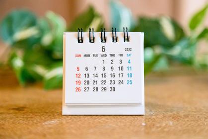 2022年6月の卓上カレンダー