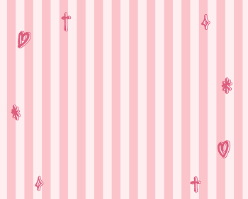 背景素材 ストライプとキラキラとハート ファンシー素材 ピンク