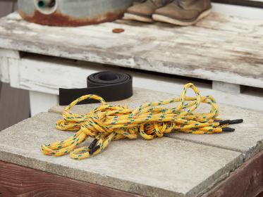 アウトドア用品のロープ