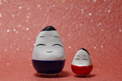 福島県会津地方の縁起物郷土玩具、起き上がり小法師