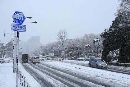 東京都心雪景色