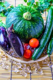 夏野菜 かぼちゃ,ナス,トマト,きゅうり