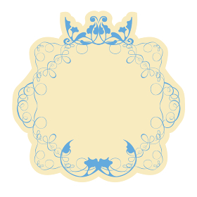グラフィックイラスト素材 バロック様式 美しいエチケットラベルデザイン・オーナメント飾り罫飾り囲み