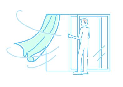 換気、窓、空気、入れ替え、風、対策、新鮮、健康、爽やか、風通し、予防、感染予防、感染対策