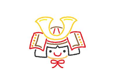 兜をかぶった金太郎のイラスト
