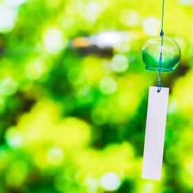 風鈴 緑 グリーン 【 夏 イメージ 】