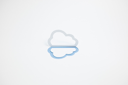 クラウド(雲)のイメージ (※A・横・濃い青)