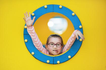 Child on porthole