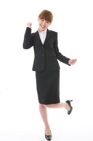 笑顔の女性 ビジネス 全身