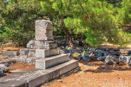 Ruins of the Ancient city Priene in Turkey, Turkey, Ayd?n, Priene
