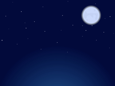 シンプルブルームーン & 星空イメージ背景