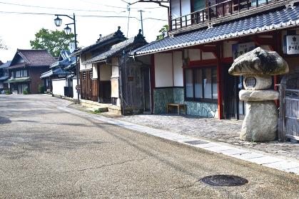 滋賀県、醒ケ井(さめがい)宿の町並み