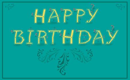 Happy Birthday. Unusual graceful font