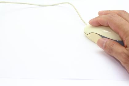 有線のマウスのイメージ素材