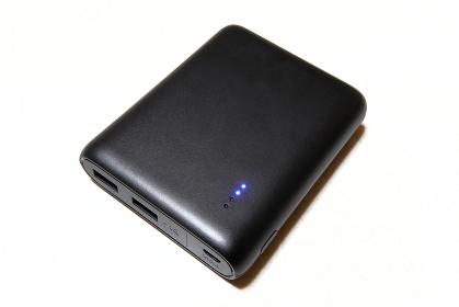 黒いモバイルバッテリー(全体)