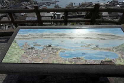 歴史民俗資料館前からの眺望案内図