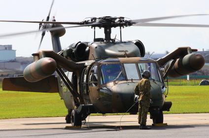 陸上自衛隊のUH-60JA多用途ヘリコプター