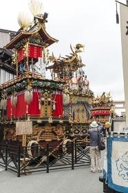 桜山八幡宮前に並ぶ屋台