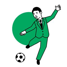スポーツ 男性 サッカー