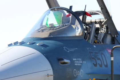 F-2戦闘機の機首アップ(2010年航空自衛隊小牧基地航空祭)