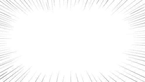 漫画の集中線フレーム素材