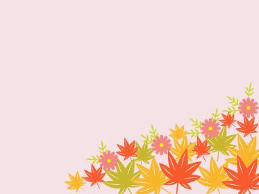 北欧風な紅葉飾りの背景