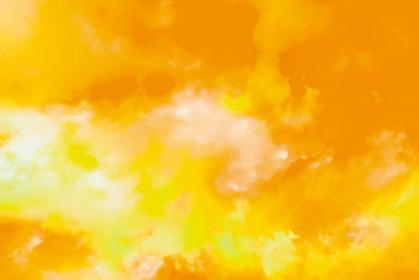 水彩調 アブストラクト背景 黄色4689