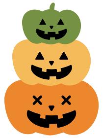 ハロウィン かぼちゃ ランタン ジャック・オー・ランタン 秋 イラスト 挿絵 三段 三段重 年中行事