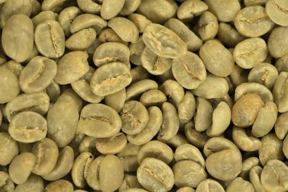 コーヒー豆のクローズアップ写真 生豆