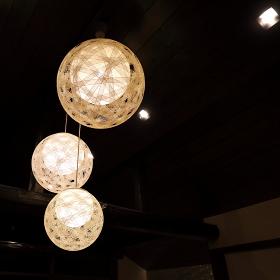 おしゃれな丸い照明