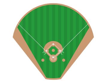 野球場ベースボールパーク スタジアムの俯瞰のイラスト