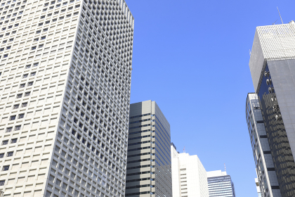 西新宿2丁目周辺のビル群