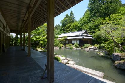 百済寺 本坊喜見院から見た庭園 滋賀県東近江市