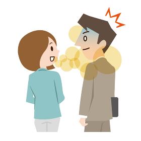 口臭の強い女性
