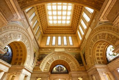 特別公開 国会議事堂 中央広間の天井とステンドグラス(東京都千代田区)