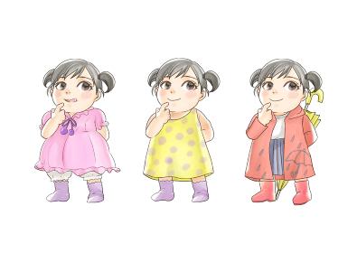 女の子3種ワンピースと夏用ワンピースレインコート