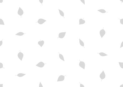 グレーの葉のシームレスなドット背景のイラスト