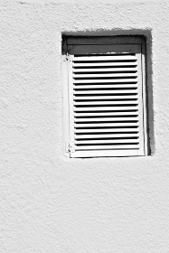 in santorini europe greece  old      architecture and venetian blind wall