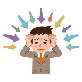 極度のストレスを感じるビジネスマン