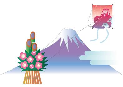 初日の出の富士山